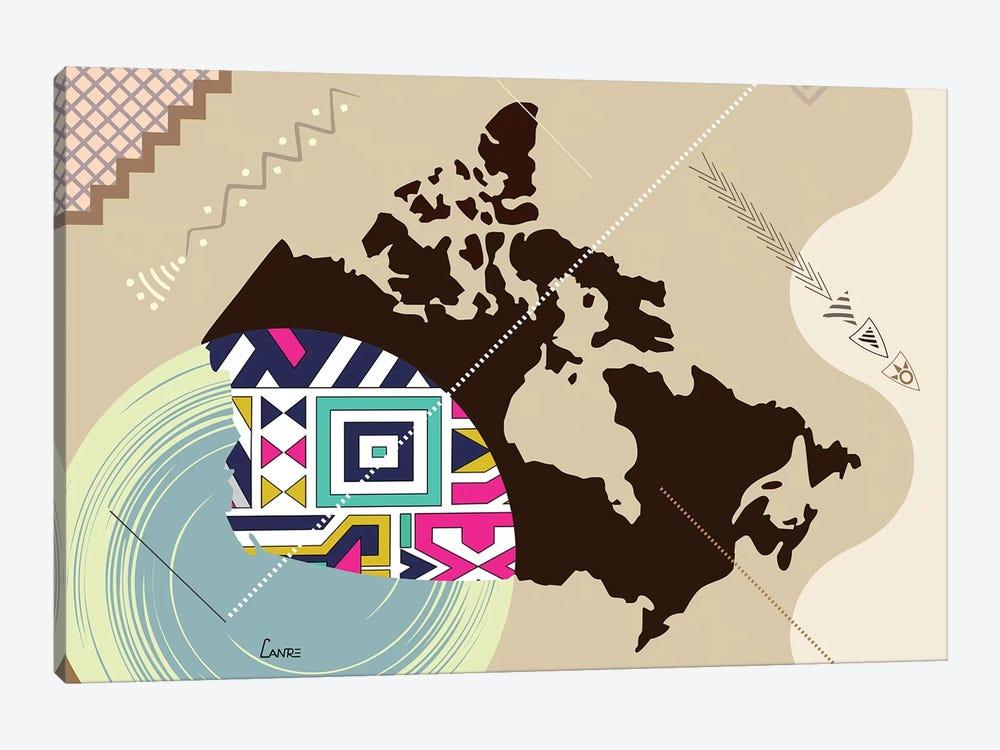 Canada Stylized by Lanre Studio 1-piece Canvas Artwork