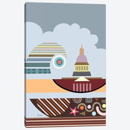 Capitol Building Stylized Canvas Print #LNR110} by Lanre Studio Canvas Print