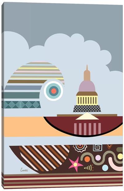 Capitol Building Stylized Canvas Art Print