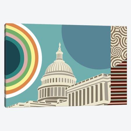 Capitol Building Washington Canvas Print #LNR111} by Lanre Studio Canvas Art Print