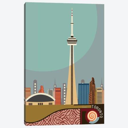 Cn Tower Toronto Canvas Print #LNR112} by Lanre Studio Canvas Art Print