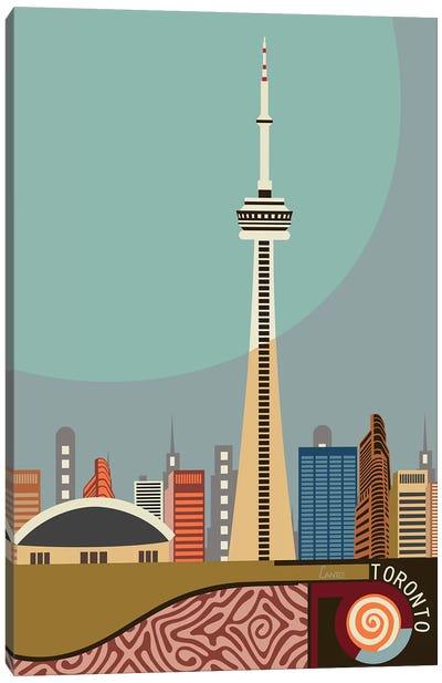 Cn Tower Toronto Canvas Art Print