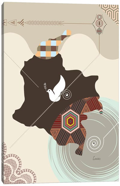 Colombia Stylized Canvas Art Print