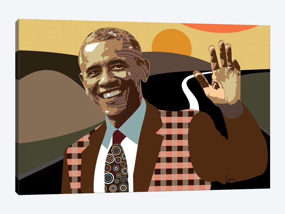 Barack Obama by Lanre Studio 1-piece Canvas Art Print