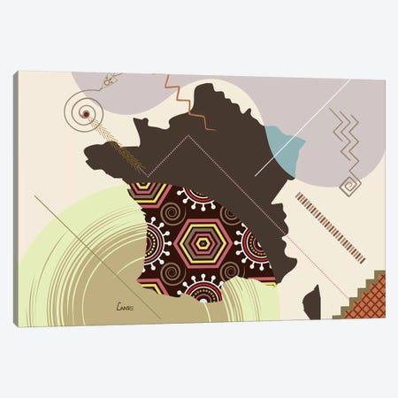 France Stylized Canvas Print #LNR120} by Lanre Studio Canvas Artwork