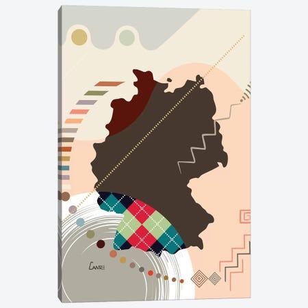 Germany Stylized Canvas Print #LNR122} by Lanre Studio Canvas Artwork