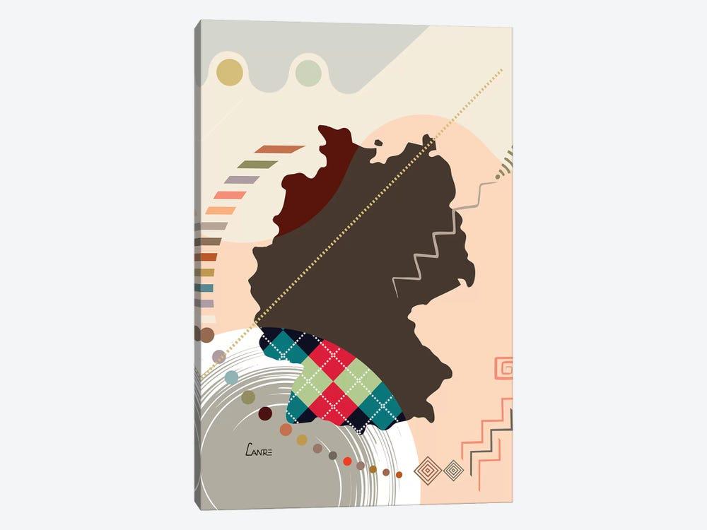 Germany Stylized by Lanre Studio 1-piece Canvas Art