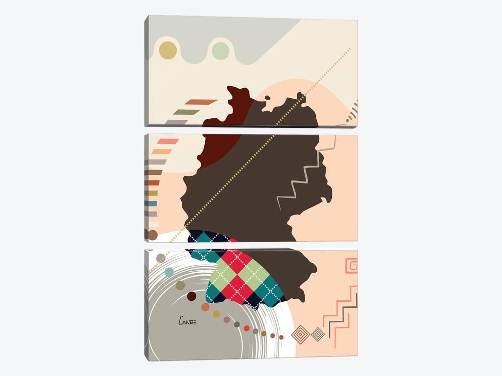 Germany Stylized by Lanre Studio 3-piece Canvas Wall Art