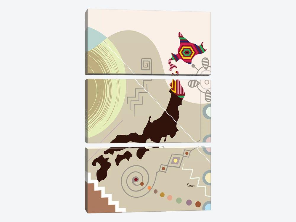 Japan Stylized by Lanre Studio 3-piece Canvas Print
