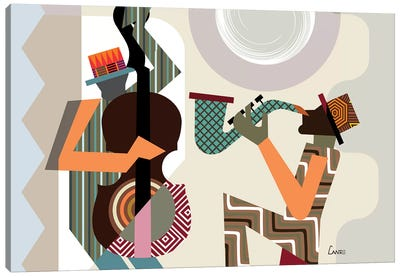 Jazz Quintet Canvas Art Print