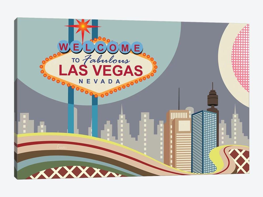Las Vegas Strip by Lanre Studio 1-piece Canvas Artwork