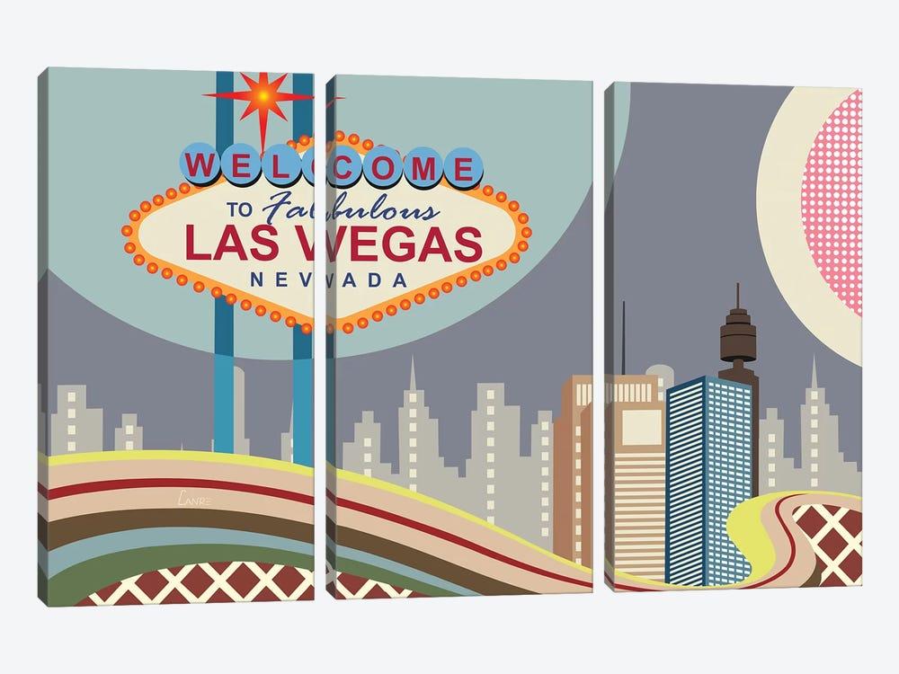 Las Vegas Strip by Lanre Studio 3-piece Canvas Art