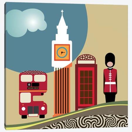 London Landmark Canvas Print #LNR139} by Lanre Studio Canvas Print