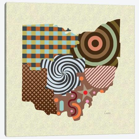Ohio State Canvas Print #LNR156} by Lanre Studio Canvas Artwork