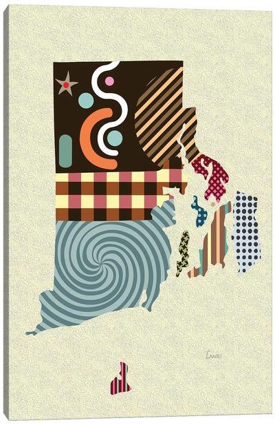 Rhode Island State Canvas Art Print