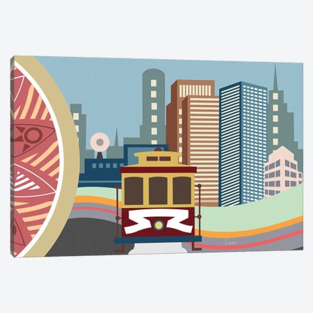 San Fransisco Canvas Print #LNR161} by Lanre Studio Canvas Art