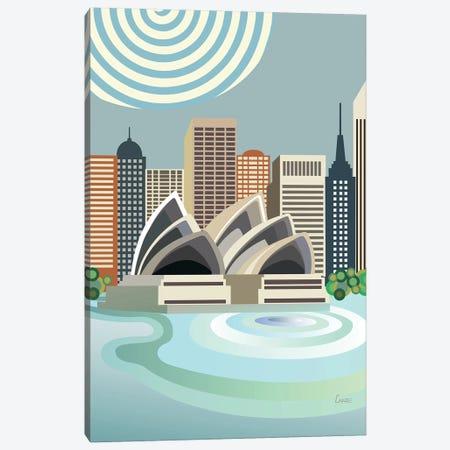 Sydney Opere House 3-Piece Canvas #LNR163} by Lanre Studio Canvas Artwork
