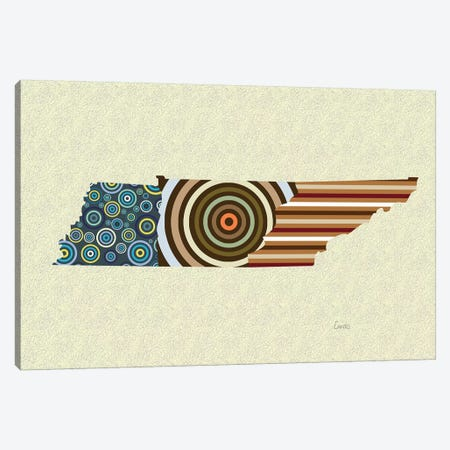 Tennessee State Canvas Print #LNR167} by Lanre Studio Canvas Art Print