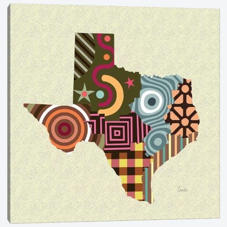 Texas State Canvas Print #LNR168} by Lanre Studio Canvas Art