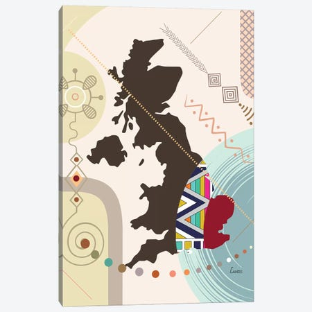 United Kingdom Stylized Canvas Print #LNR170} by Lanre Studio Canvas Print