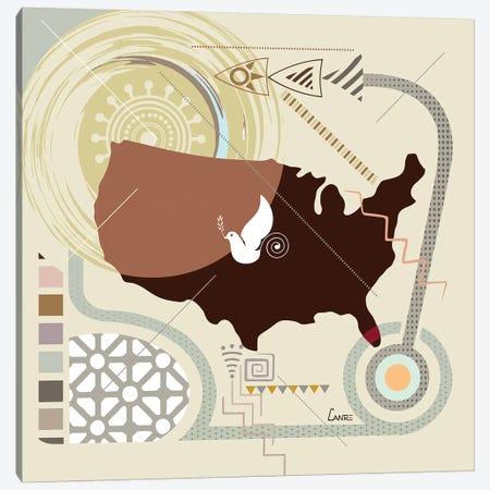 USA Soaring Canvas Print #LNR171} by Lanre Studio Canvas Art Print