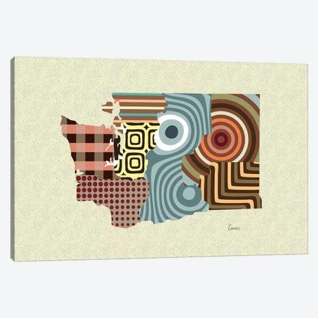Washington State Canvas Print #LNR177} by Lanre Studio Canvas Artwork