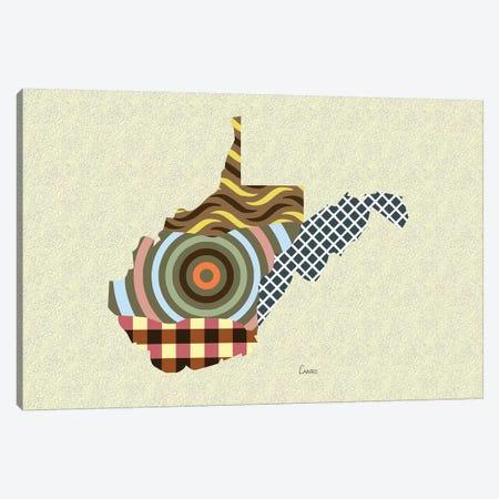 West Virginia State Canvas Print #LNR179} by Lanre Studio Canvas Art Print