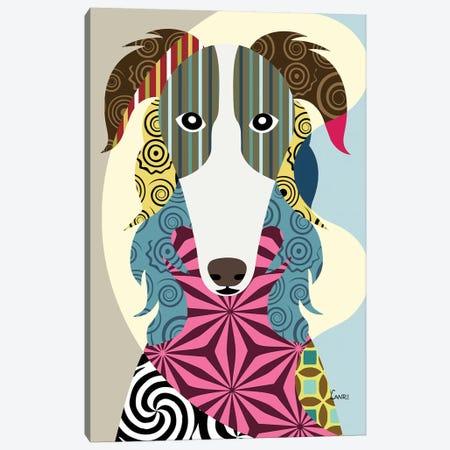 Borzoi Russian Wolfhound Canvas Print #LNR17} by Lanre Studio Art Print