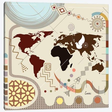 The World Soaring Canvas Print #LNR182} by Lanre Studio Canvas Art