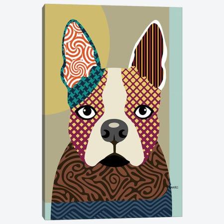 Boston Terrier Canvas Print #LNR18} by Lanre Studio Canvas Artwork