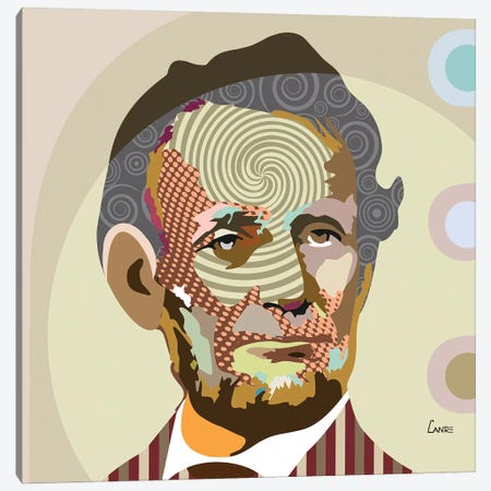 Abraham Lincoln Canvas Print #LNR1} by Lanre Studio Canvas Art