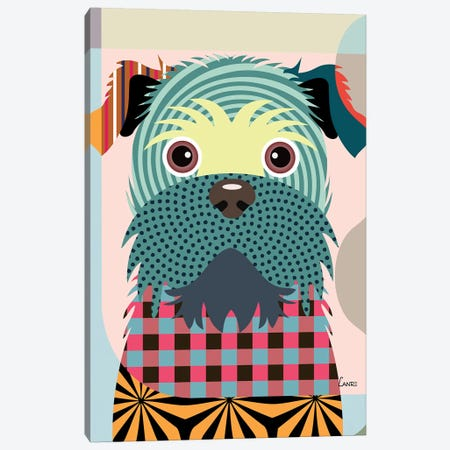 Brussels Griffon 3-Piece Canvas #LNR20} by Lanre Studio Art Print