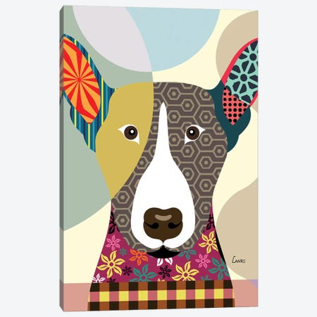 Bull Terrier Canvas Print #LNR21} by Lanre Studio Canvas Print