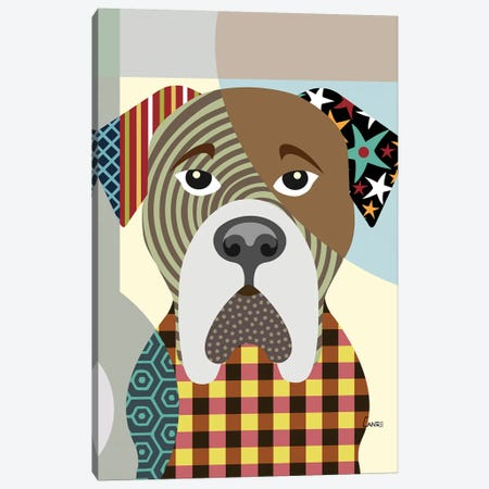 Bullmastiff Canvas Print #LNR22} by Lanre Studio Canvas Art Print
