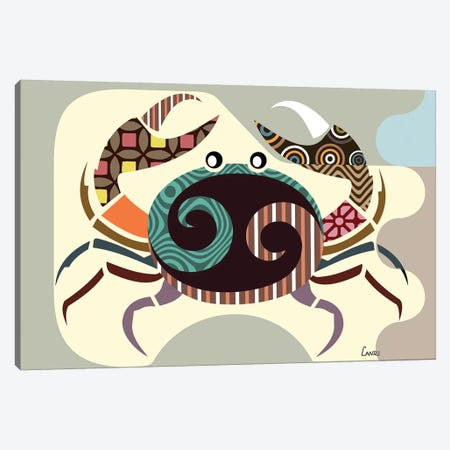 Cancer Zodiac 3-Piece Canvas #LNR23} by Lanre Studio Canvas Print