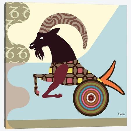 Capricorn Zodiac Canvas Print #LNR24} by Lanre Studio Canvas Wall Art