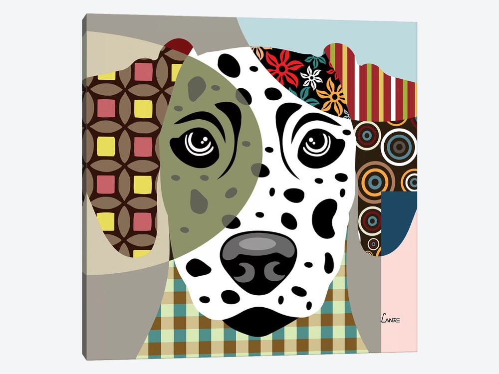 Dalmatian by Lanre Studio 1-piece Canvas Art Print
