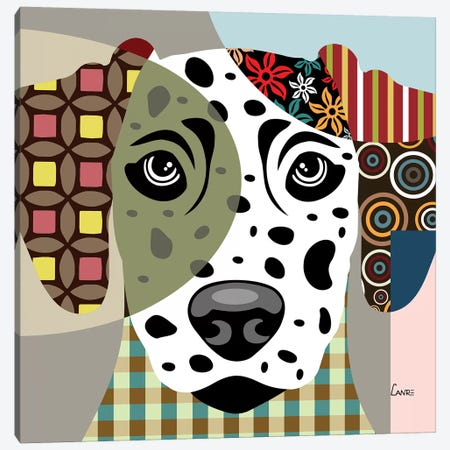 Dalmatian Canvas Print #LNR31} by Lanre Studio Canvas Art