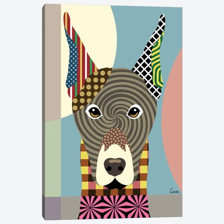 Doberman Pinscher Canvas Print #LNR33} by Lanre Studio Canvas Art