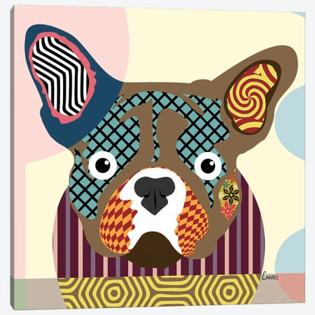 French Bulldog Canvas Print #LNR36} by Lanre Studio Canvas Art Print