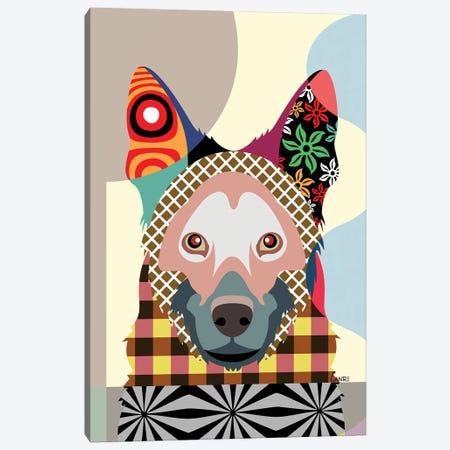 German Shepherd Canvas Print #LNR38} by Lanre Studio Canvas Artwork