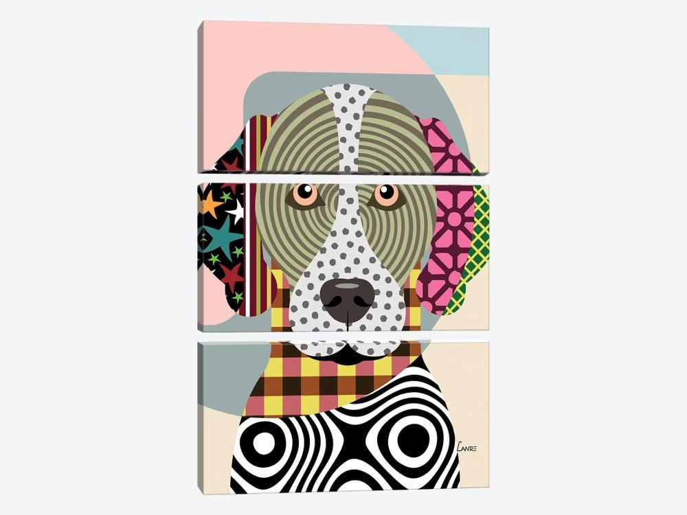 German Shorthaired Pointer by Lanre Studio 3-piece Art Print
