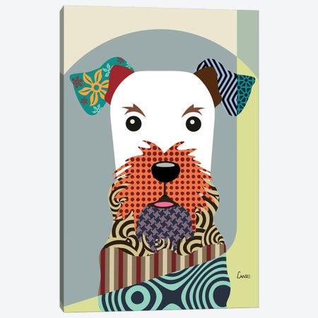 Airedale Terrier Canvas Print #LNR3} by Lanre Studio Canvas Artwork