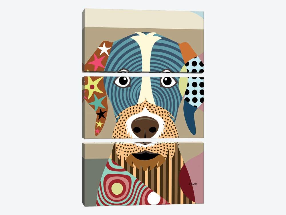 German Wirehaired Pointer by Lanre Studio 3-piece Canvas Art Print