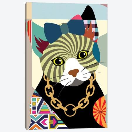 Hipster Kitty Canvas Print #LNR47} by Lanre Studio Canvas Artwork