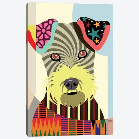 Irish Terrier Canvas Print #LNR49} by Lanre Studio Canvas Art Print