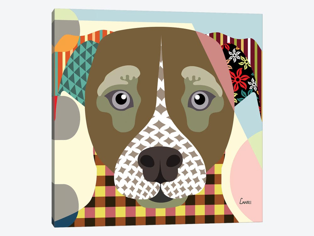 Jack Russell by Lanre Studio 1-piece Canvas Art Print