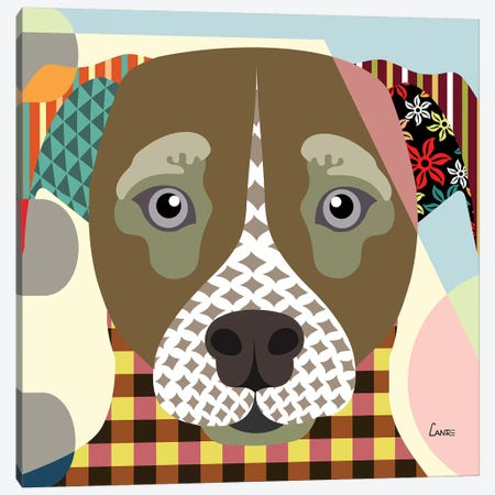 Jack Russell Canvas Print #LNR51} by Lanre Studio Canvas Artwork