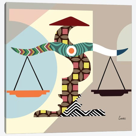 Libra Zodiac Canvas Print #LNR58} by Lanre Studio Canvas Artwork