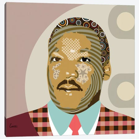 Martin Luther King Jr Canvas Print #LNR63} by Lanre Studio Art Print